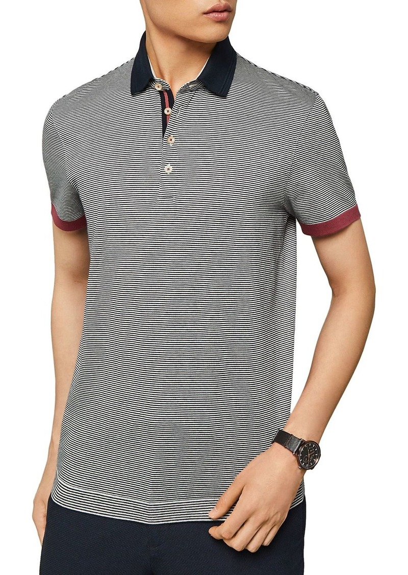 Ted Baker Depolo Striped Regular Fit Polo Shirt