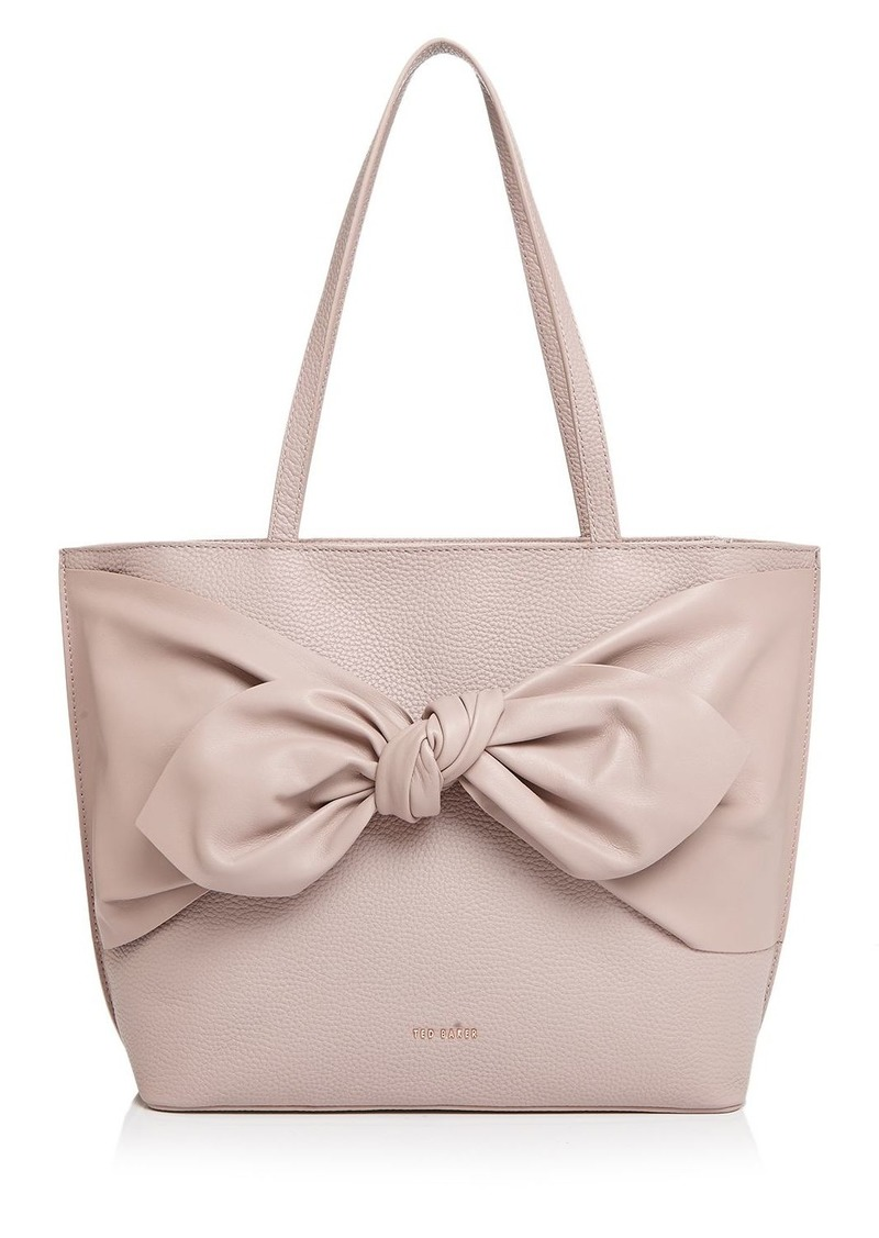 Ted Baker Diiana Knot Detail Large Leather Tote