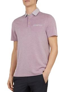 Ted Baker Doller Woven-Collar Regular Fit Polo Shirt