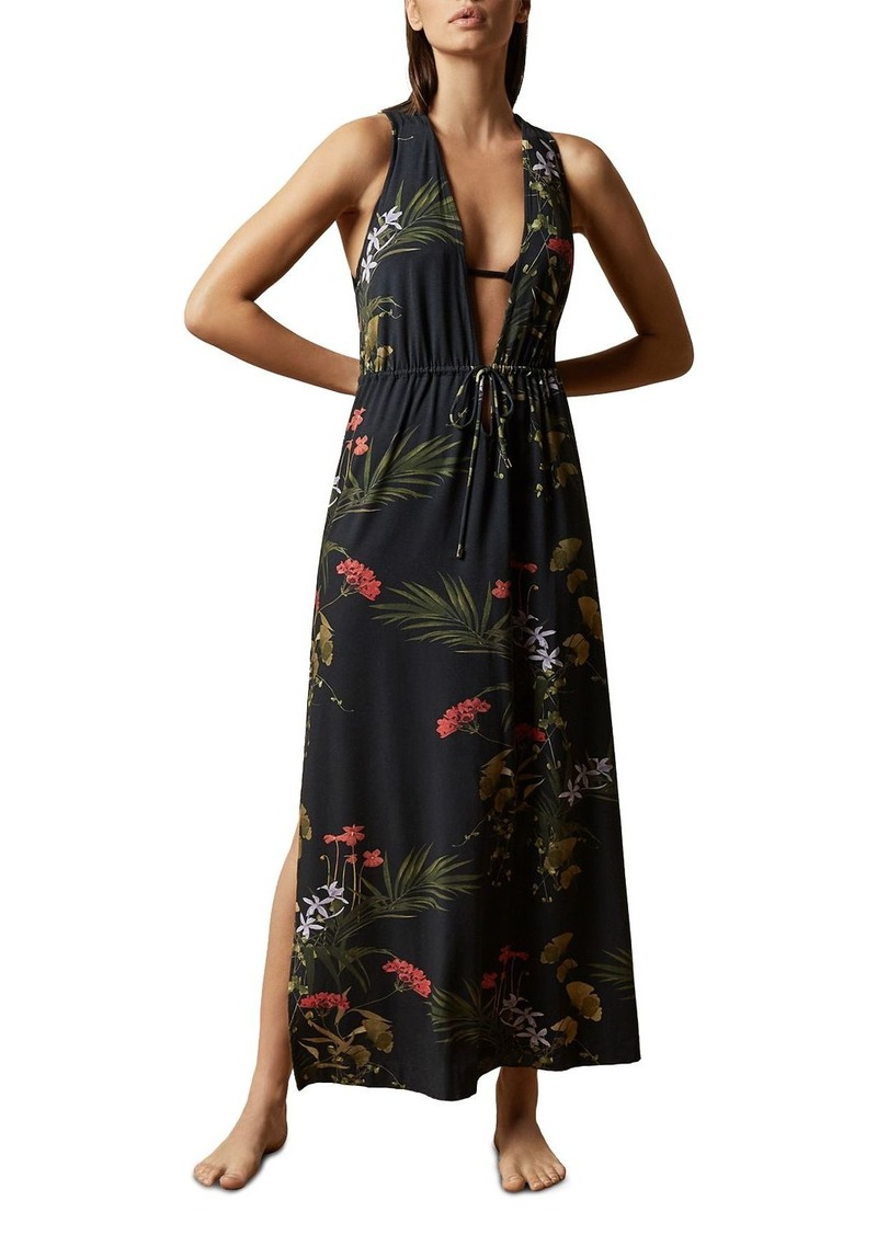 Ted Baker Flisss Highland Plunging Maxi Swim Cover-Up