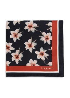 Ted Baker Floral Print Silk Pocket Square