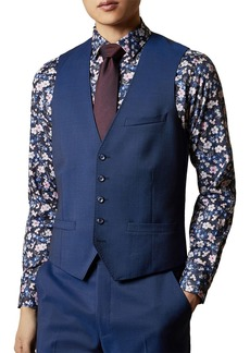 Ted Baker Franc Printed-Back Suit Waistcoat