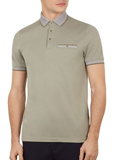 Ted Baker Frog Flat Knit Polynosic Polo Shirt