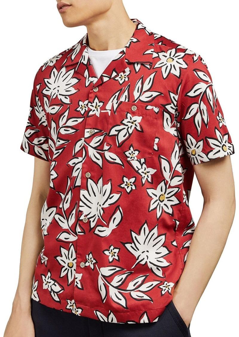 Ted Baker Greg Revere Floral Regular Fit Shirt