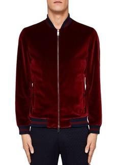 Ted Baker Haydon Velvet Bomber Jacket