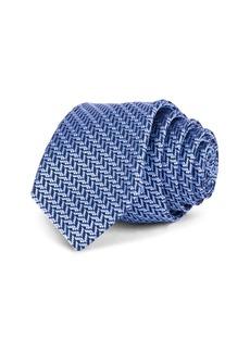 Ted Baker Herringbone Jacquard Silk Skinny Tie