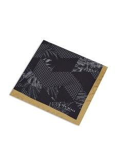 Ted Baker Horsham Mixed-Print Silk Pocket Square