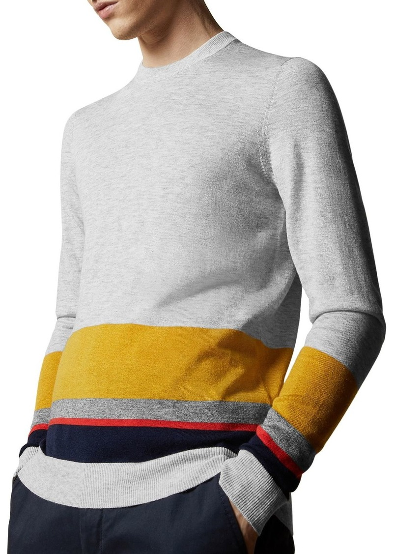 Ted Baker Host Color-Block Crewneck Sweater