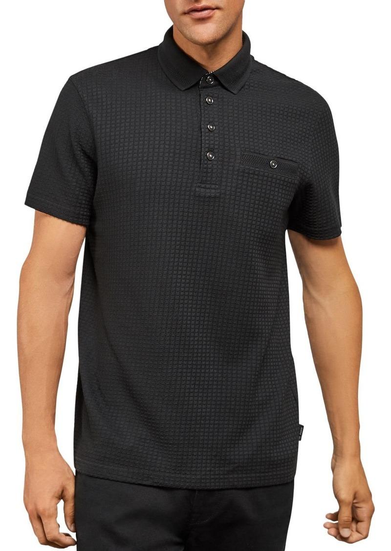 Ted Baker Hughes Textured Regular Fit Polo Shirt