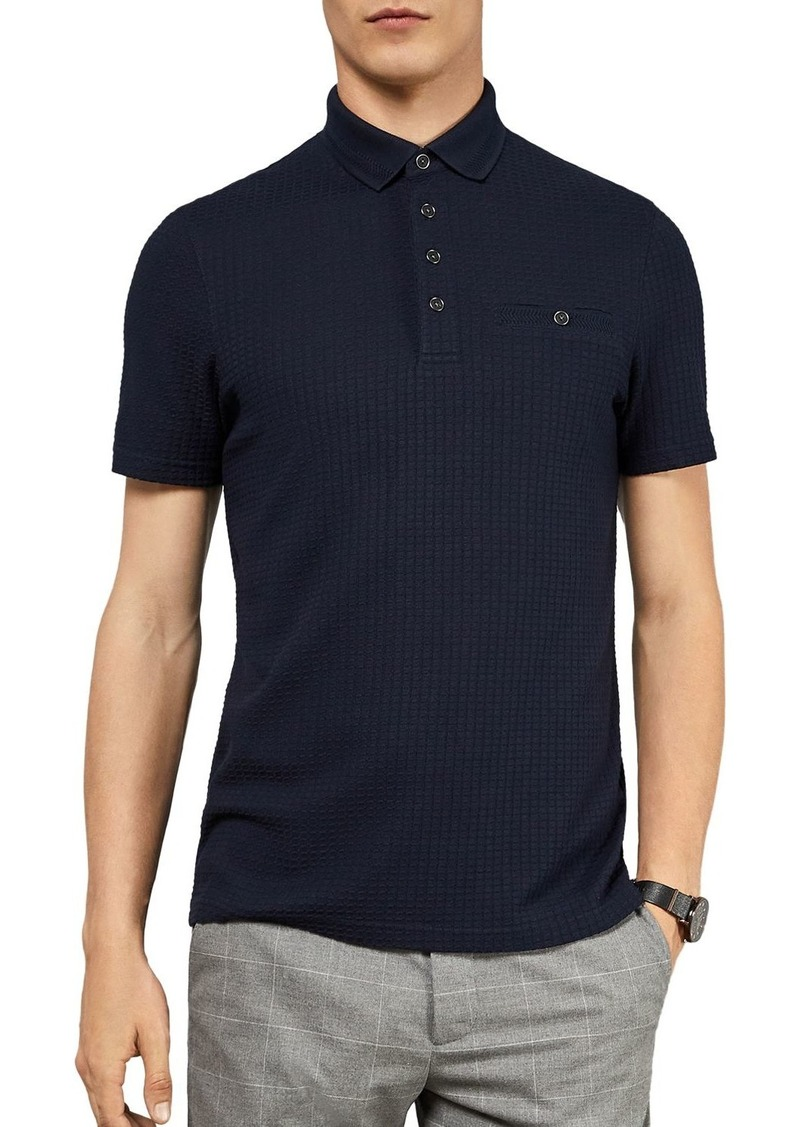 Ted Baker Hughes Textured Regular Fit Polo Shirt