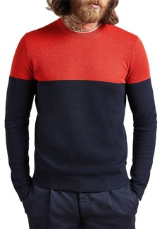 Ted Baker Icepop Colorblocked Cotton Blend Sweater