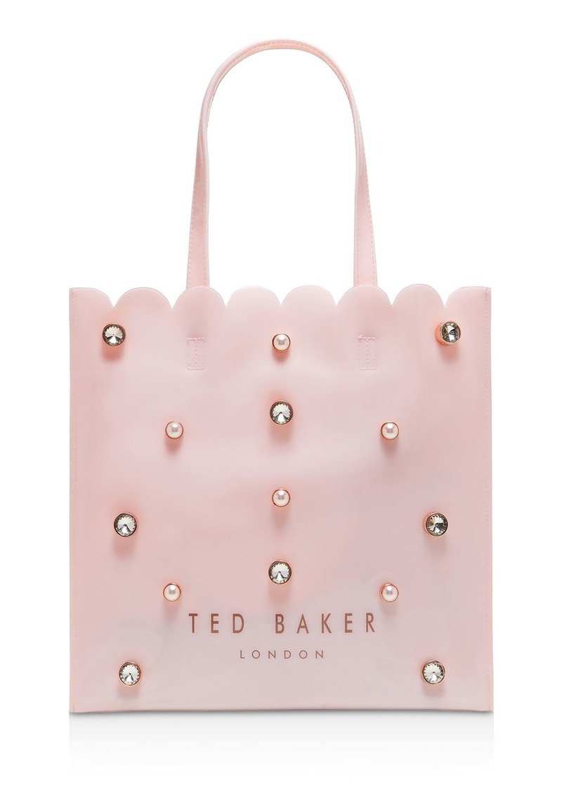 Ted Baker Icon Faux-Pearl and Crystal Large Tote