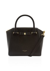Ted Baker Janne Bow Detail Pebbled Leather Zip Tote