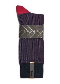 Ted Baker Joaquim Birdseye-Flecked Socks