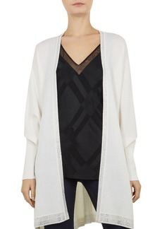 Ted Baker Keriani Hot Fix Rhinestone-Trimmed Cocoon Cardigan