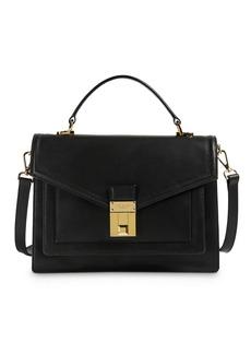 Ted Baker Kim Medium Luggage Lock Leather Satchel