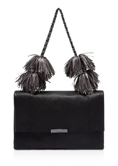 Ted Baker Leather Pom-Pom Shoulder Bag