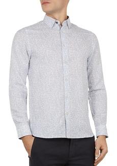 Ted Baker Leemar Floral Print Slim Fit Shirt