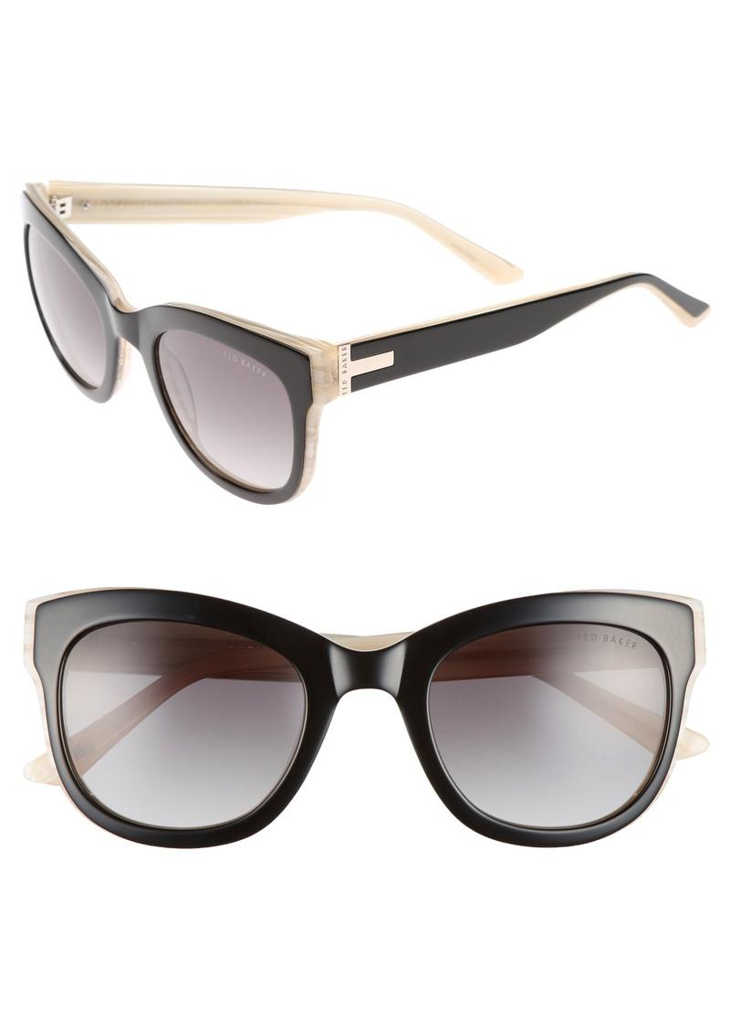 e9a0536228923c Ted Baker Ted Baker London 51mm Square Cat Eye Sunglasses