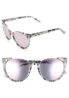 Ted Baker London 53mm Modified Oval Sunglasses