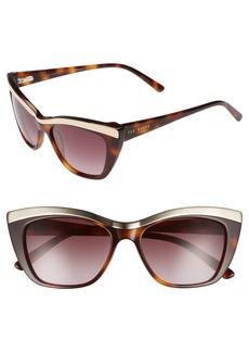 Ted Baker London 54mm Rectangle Cat Eye Sunglasses