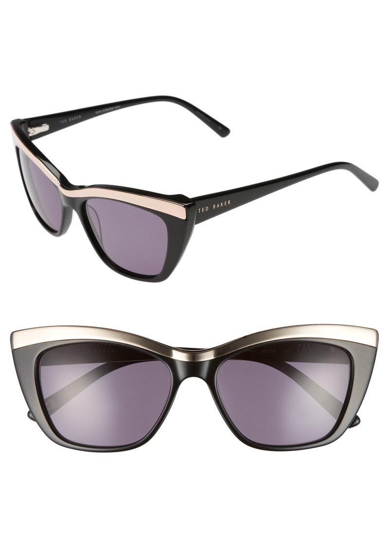 603adb6e8d Ted Baker Ted Baker London 54mm Rectangle Cat Eye Sunglasses ...