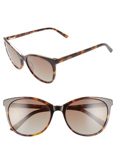 Ted Baker London 55mm Polarized Cat Eye Sunglasses