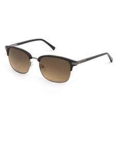 Ted Baker London 55mm Polarized Gradient Square Sunglasses
