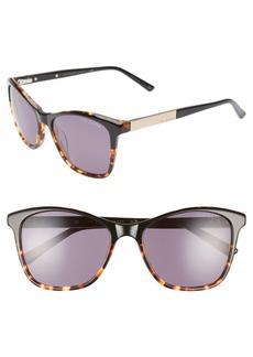 Ted Baker London 55mm Square Cat Eye Sunglasses
