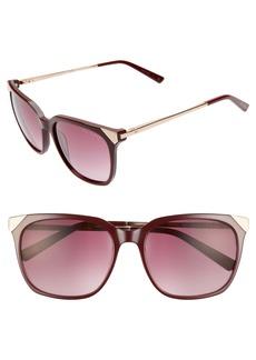 Ted Baker London 55mm Square Sunglasses