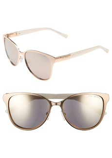 Ted Baker London 56mm Modified Round Sunglasses