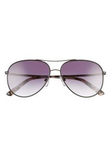 Ted Baker London 57mm Aviator Sunglasses
