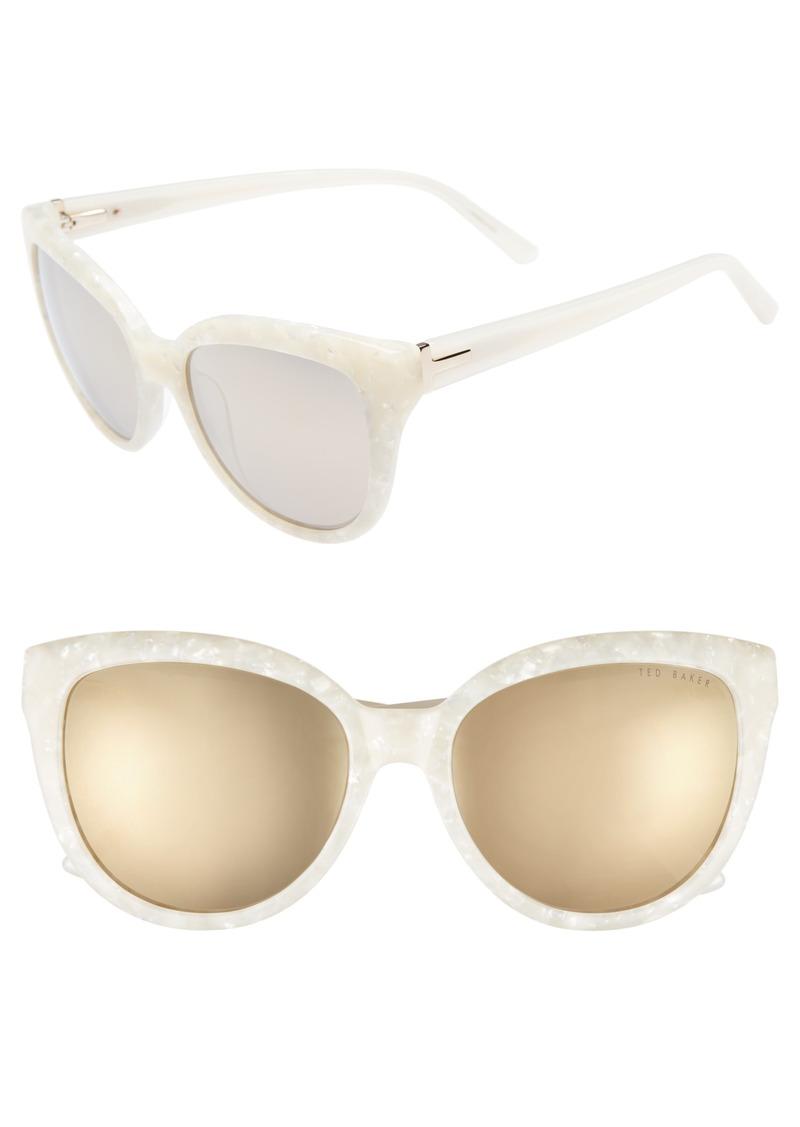 1070b80e54b651 Ted Baker Ted Baker London 57mm Cat Eye Sunglasses
