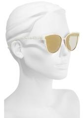 Ted Baker London 57mm Flat Lens Cat Eye Sunglasses