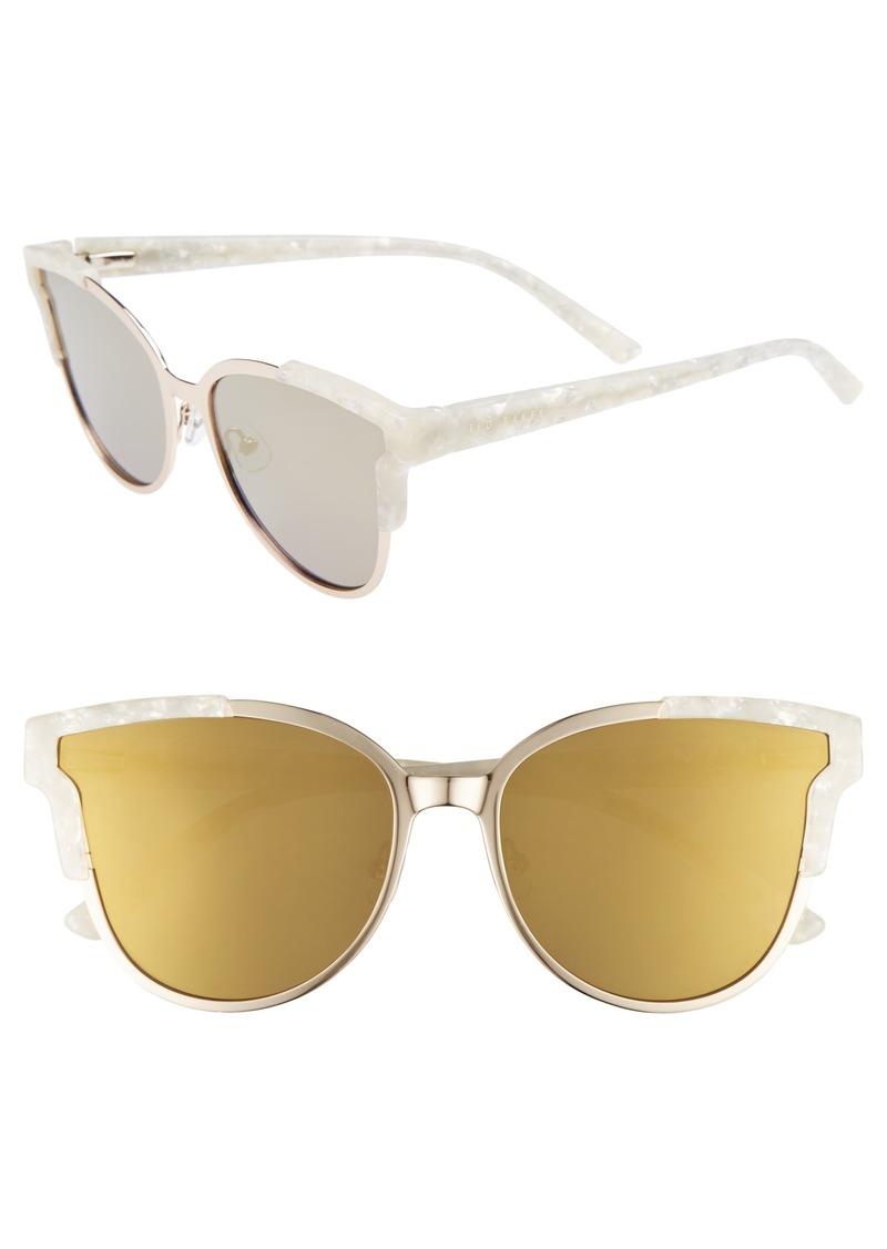 42ddd79d15 Ted Baker Ted Baker London 57mm Flat Lens Cat Eye Sunglasses ...