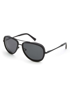 Ted Baker London 57mm Polarized Aviator Sunglasses