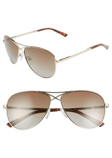 Ted Baker London 58mm Gradient Aviator Sunglasses