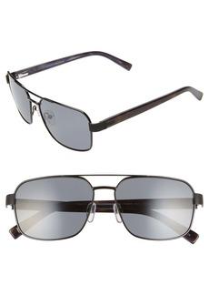 Ted Baker London 58mm Polarized Navigator Sunglasses