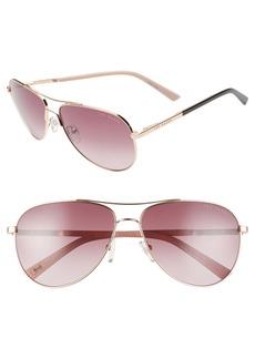 Ted Baker London 58mm Tinted Gradient Aviator Sunglasses