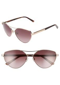 Ted Baker London 59mm Geometric Aviator Sunglasses