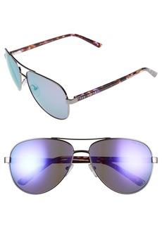 Ted Baker London 60mm Aviator Sunglasses