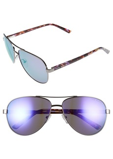 Ted Baker London 60mm Aviator Sunglasses
