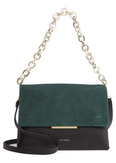 Ted Baker London AAlice Leather & Suede Shoulder Bag