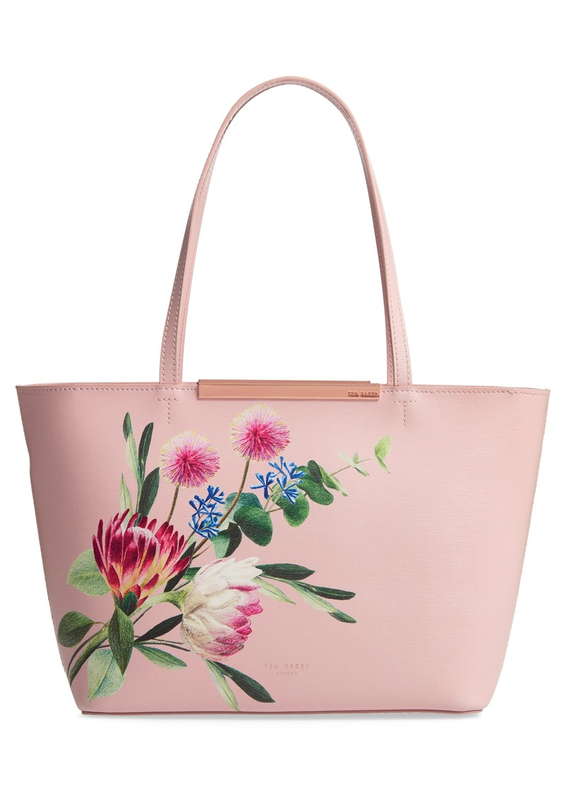 Ted Baker London Abiiey Flourish Mini Leather Shopper