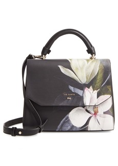 Ted Baker London Adeliah Opal Floral Print Faux Leather Top Handle Bag
