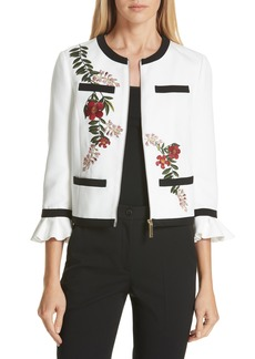 Ted Baker London Aimmii Embroidered Jacket
