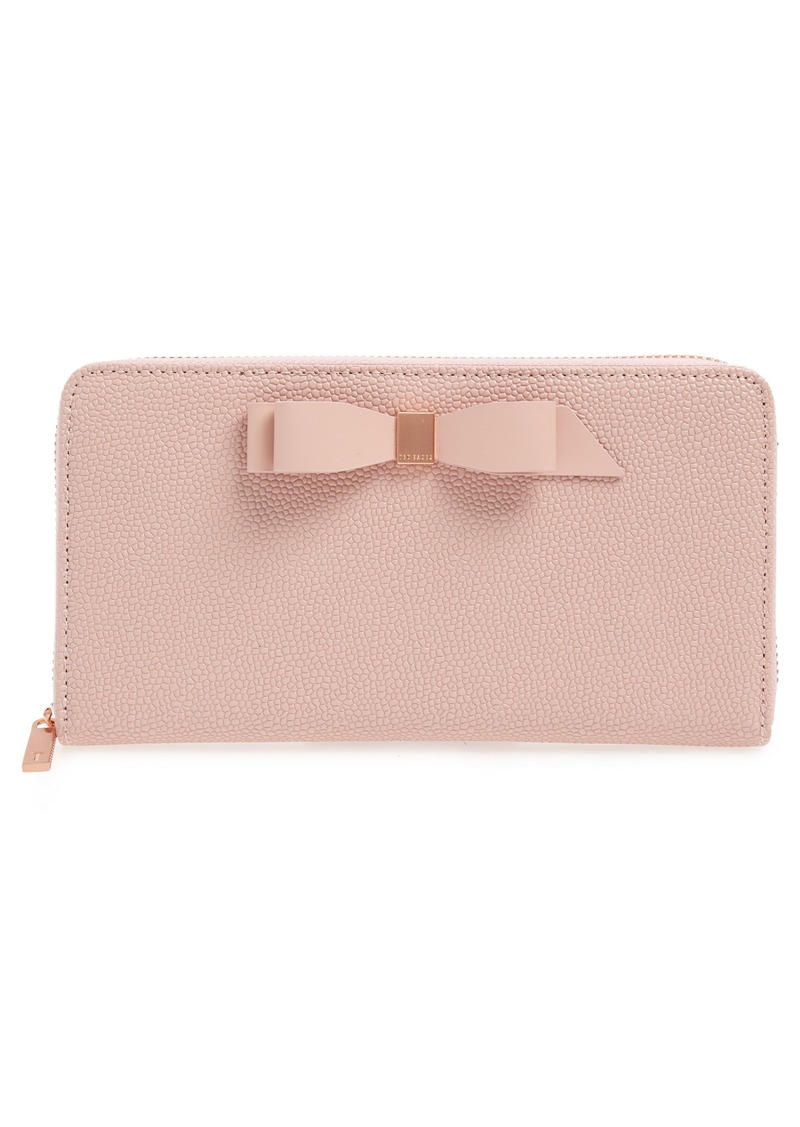 Ted Baker London Aine Bow Leather Matinée Wallet