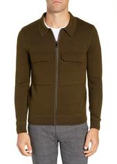 Ted Baker London Akwa Slim Fit Zip Wool Blend Sweater