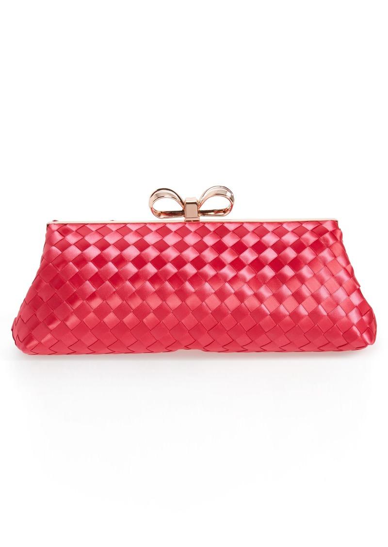 Ted Baker Ted Baker London Alaina Woven Frame Clutch   Handbags 36fb06f033