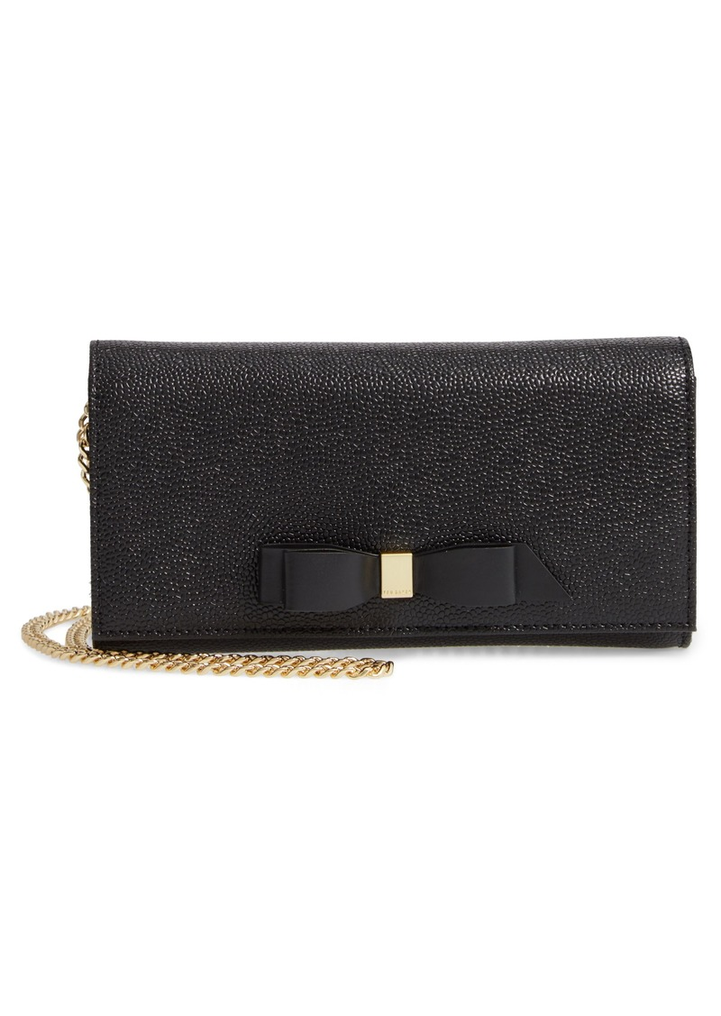 Ted Baker London Alaine Leather Matinée Wallet on a Chain